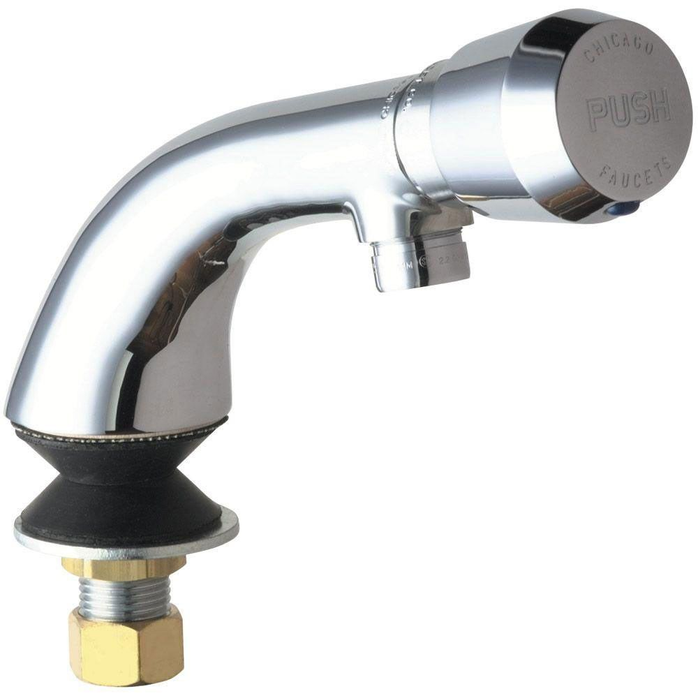 Chicago Faucets Single Hole 1-Handle Low-Arc Bathroom Faucet in ...
