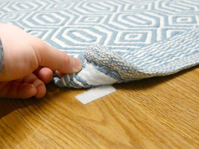 Secure An Area Rug With Velcro To Keep It From Sliding Around Cnet 25 Life Hacks Rugs Area Rugs