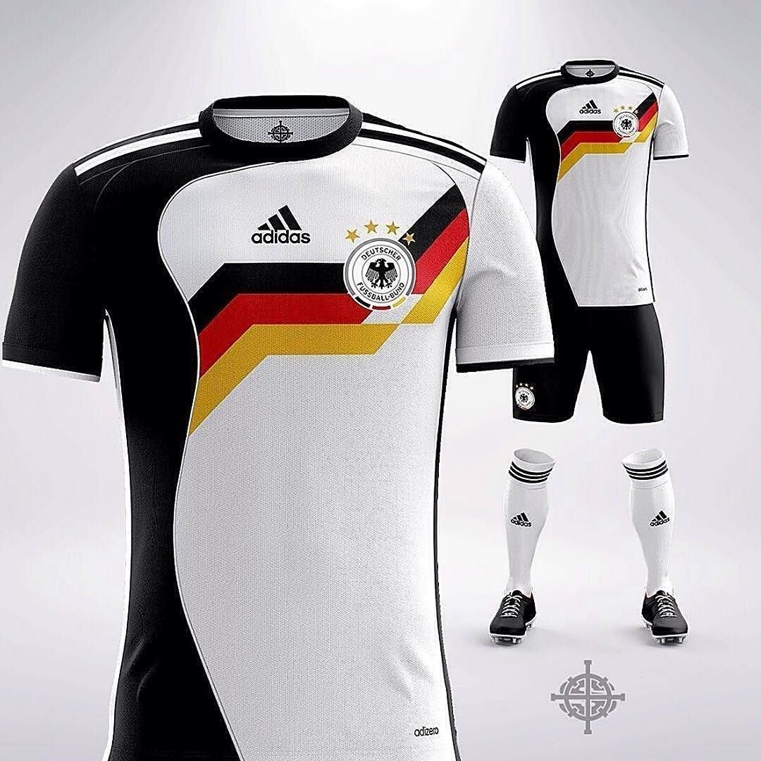 2009a271a1bca 1 3  FootyConcepts from  settpace. An adidas 1988 inspired German kit What do  you think of this concept  Rate it!  soccertips
