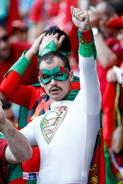 #EURO2016 Portugal supproters during the UEFA Euro 2016 Semi Final match between Portugal and Wales at Stade des Lumieres on July 6 2016 in Lyon France