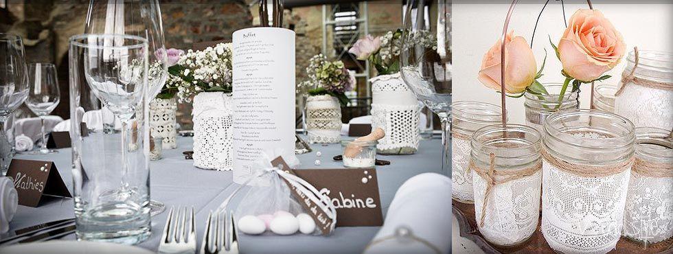 VintageVasen und Glser fr Hochzeit mieten  weddstyle   VINTAGE HOCHZEITSDEKO  Table