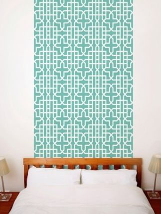 Wallpaper Without Glue If Your Landlord Has Said No To Repainting You Might Like Try Stick On L Off This Teal Geometric