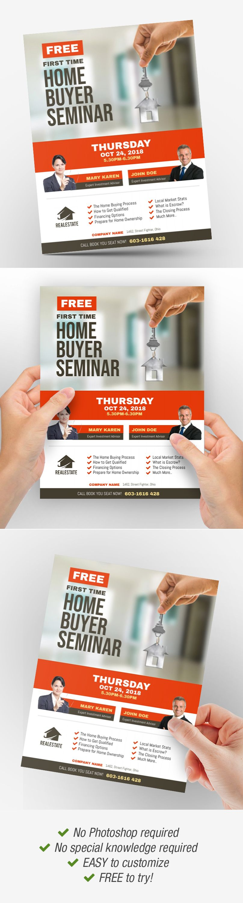 First Time Home Buyer Seminar Flyer First Time Home Buyers Flyer Real Estate Flyers Home buyer seminar flyer template