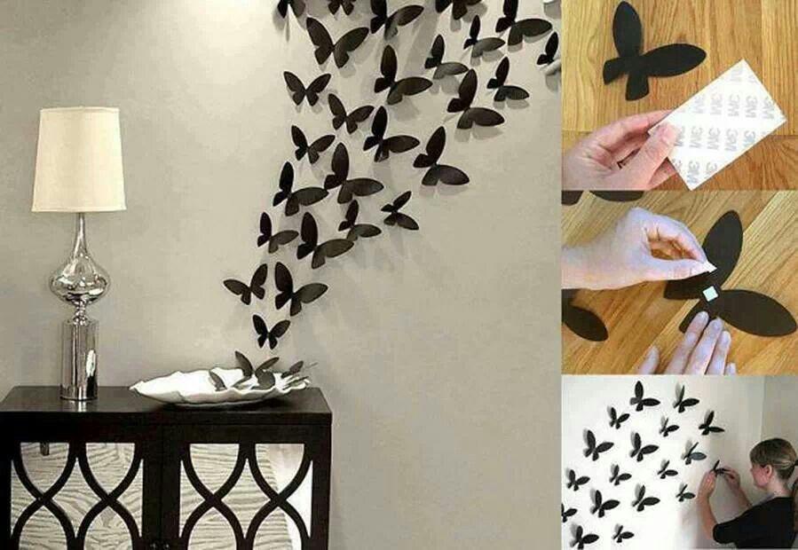 butterflies wall art diy - done it! | DIY | Pinterest | Butterfly ...