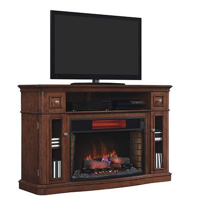 Twin Star Costal Media Console Electric Fireplace Summer Cherry