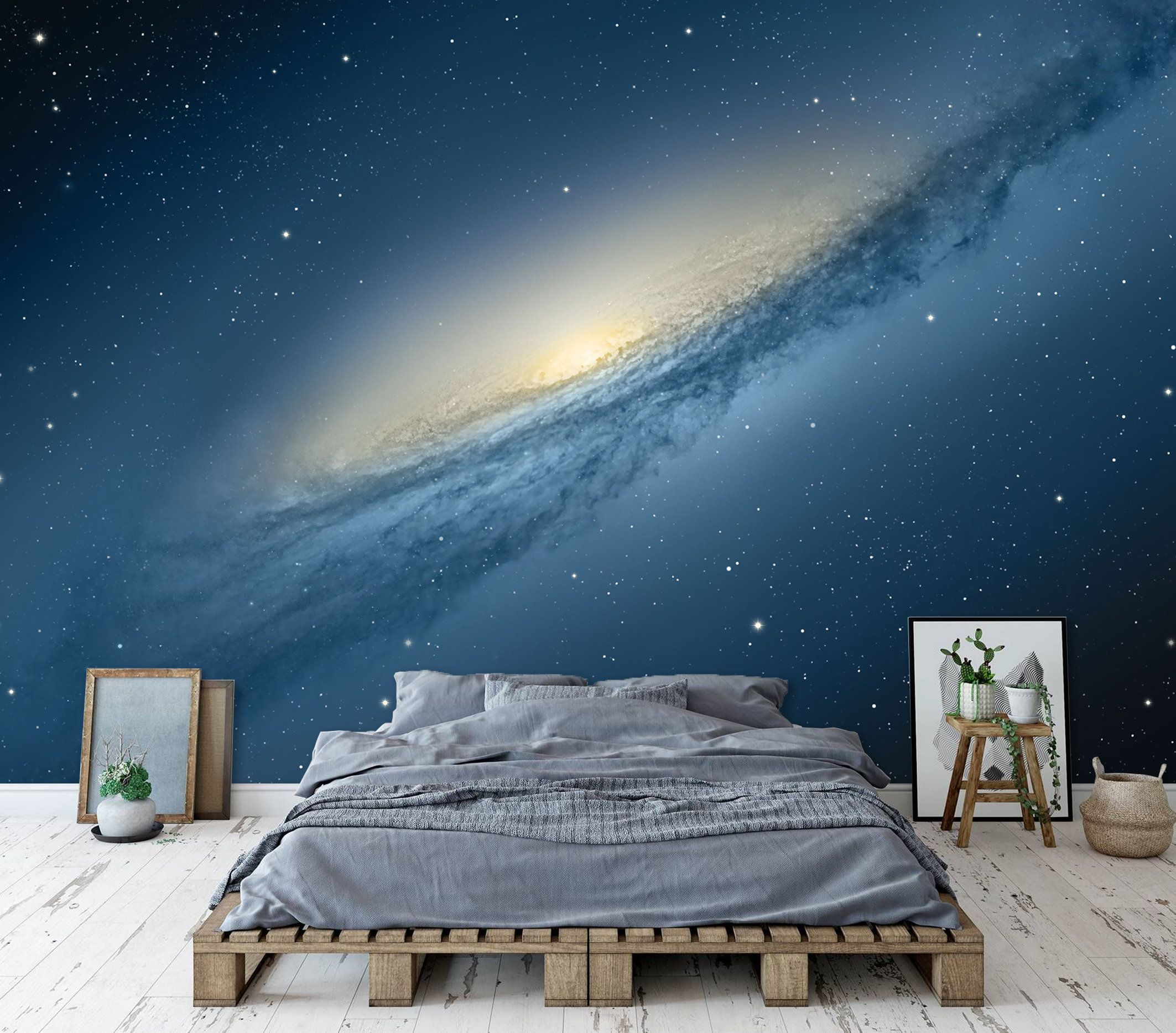 Galaxy Wallpaper Space Wallpaper Large Wall Mural Peel Stick Etsy Large Wall Murals Boy Room Wall Decor Wallpaper Space