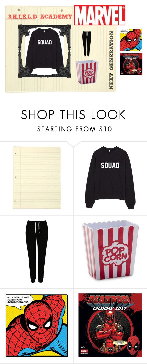 """""""Lazy day"""" by queen-suga on Polyvore featuring George, Sur La Table and Marvel Comics"""