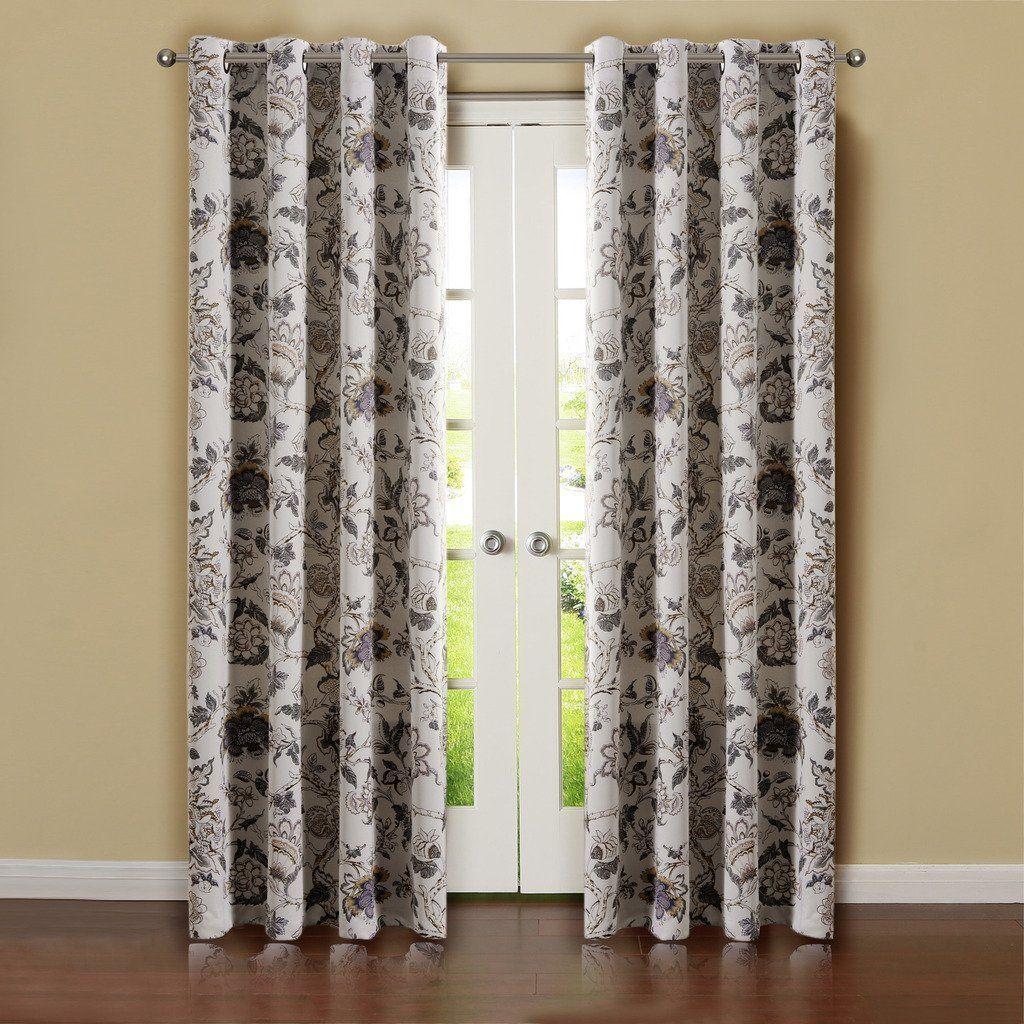 incredible 52 Inch Length Curtains Part - 13: H.Versailtex Thermal Insulated Blackout Window Room Grommet Curtain Drapes-52  inch Width by
