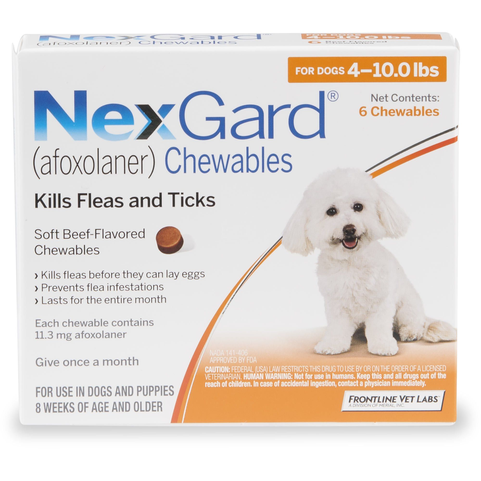 Nexgard Chewables Orange For Dogs 4 To 10 Lbs 6 Pack Petco In 2020 Flea And Tick Fleas Brown Dog Tick