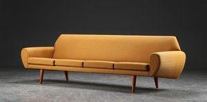sofa uld Fire pers. sofa betrukket med uld uld, løse hynder i sæde, runde  sofa uld
