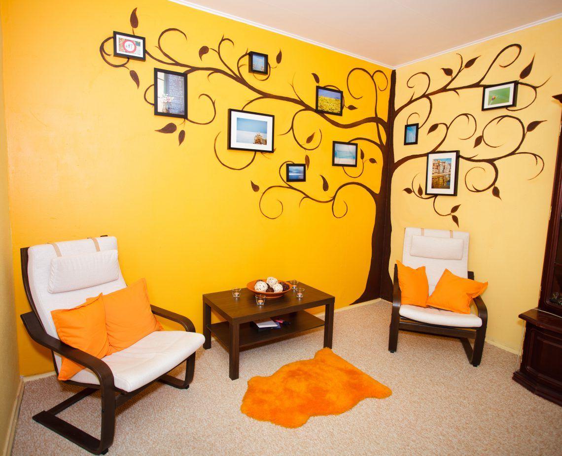 Рисунки на стенах в квартире своими руками фото фото 349