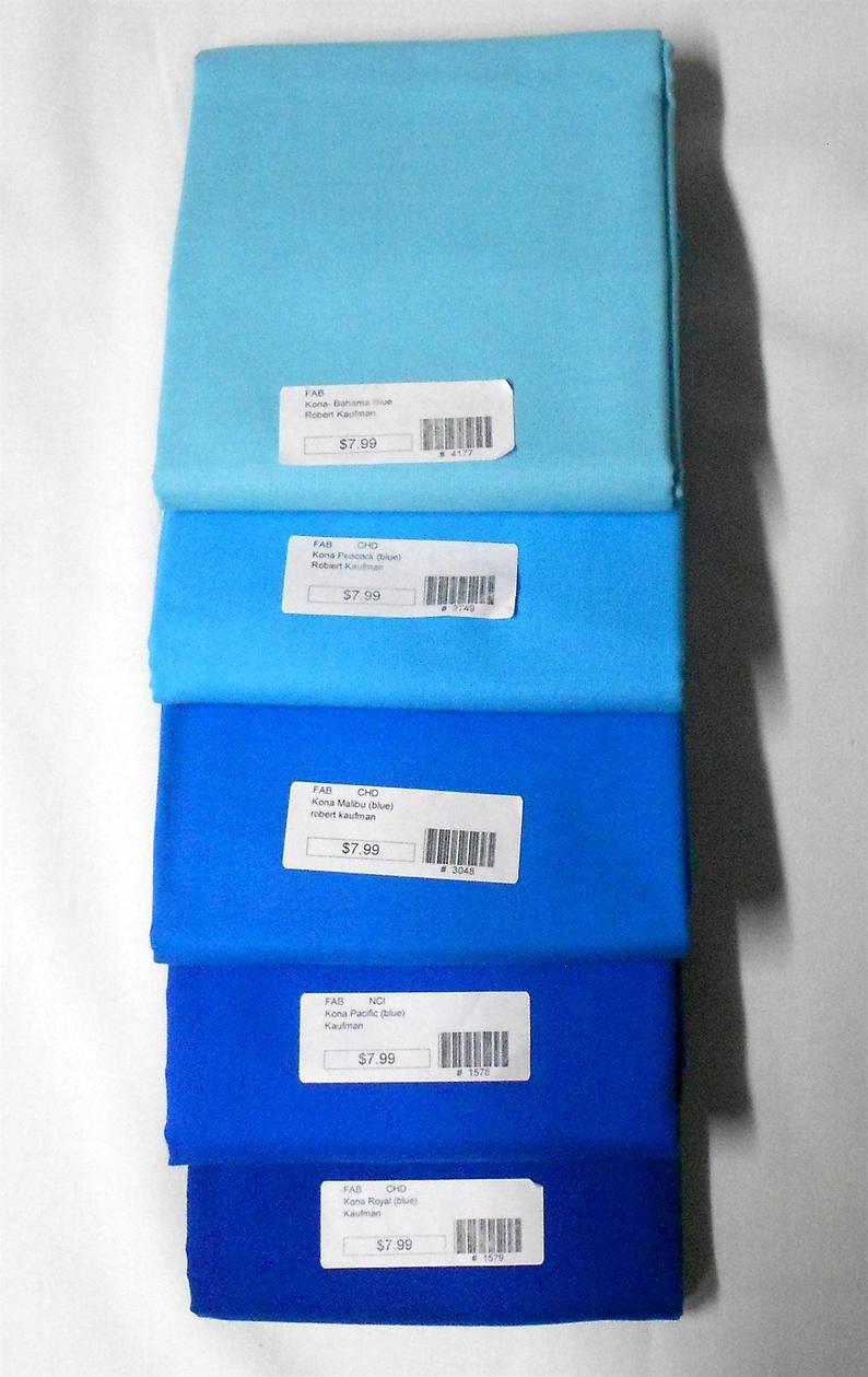 Robert Kaufman Kona Cotton Fabric Bahama Blue