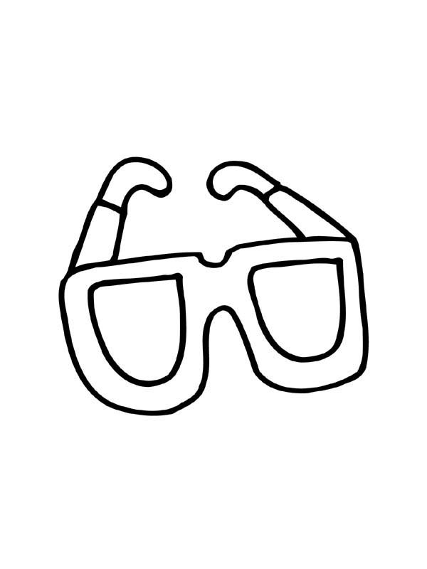 Pin On Eyeglasses Coloring Page