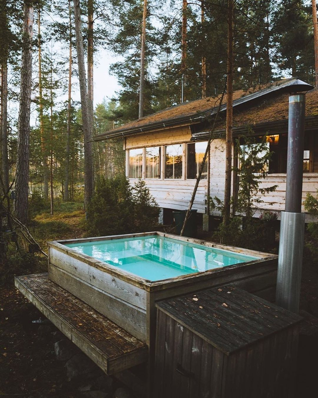 Cabin Love On Instagram Forest Bathing Finland Cabinlove Finland Joonaslinkola Rustic Hot Tubs House Viewing Hot Tub Outdoor