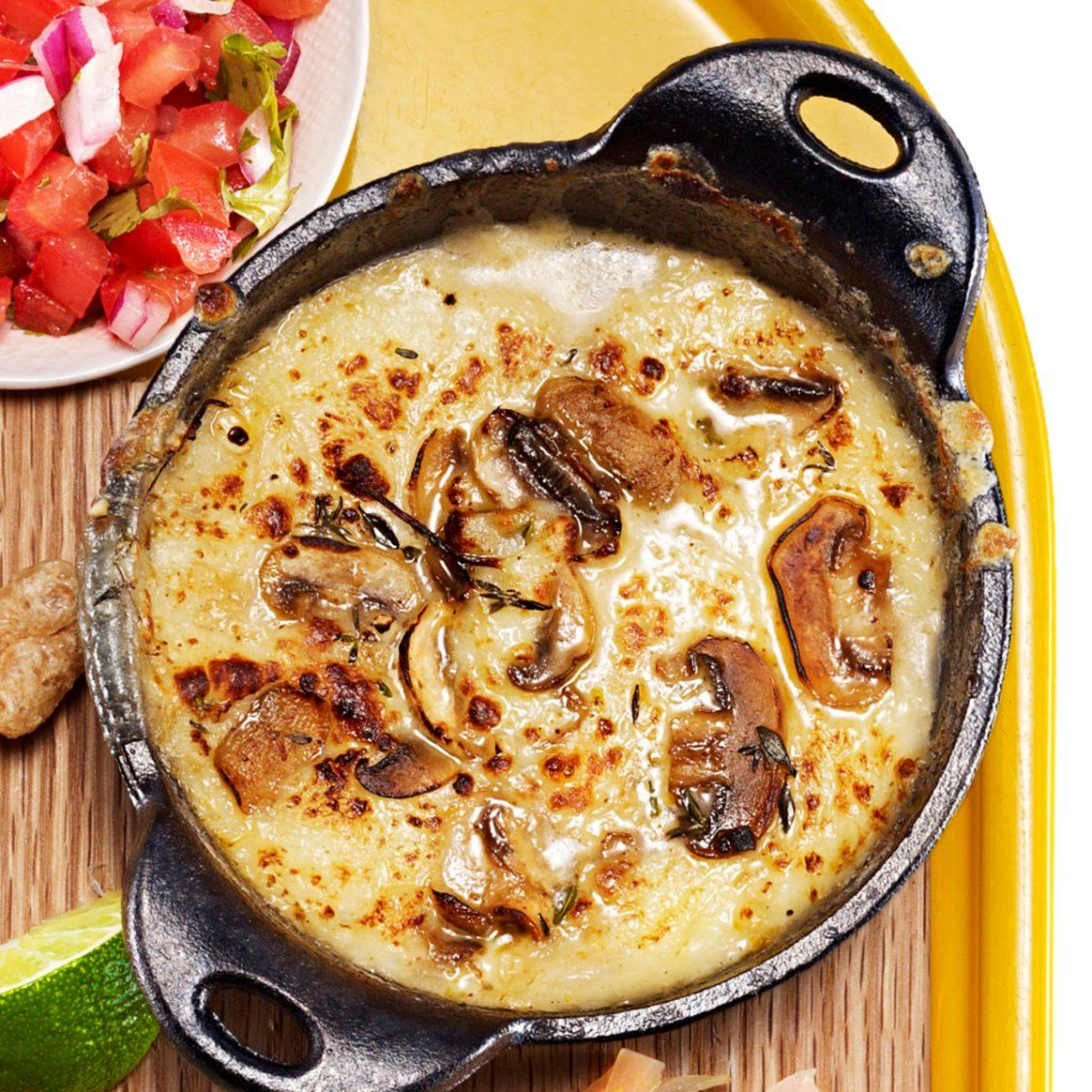 Garlic & Mushroom Queso Fundido - Rachael Ray Every Day | food ...