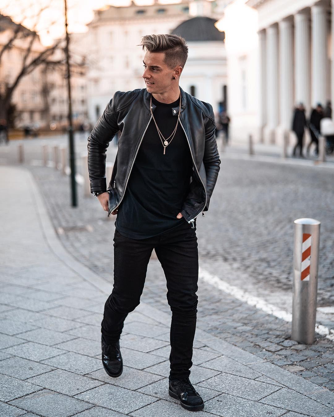 Schwarz In Schwarz Or Thursdays Allblack Ootd Streetstyles Menswears Black Outfit Men Leather Jacket Outfit Men Black Leather Jacket Outfit [ 1349 x 1080 Pixel ]