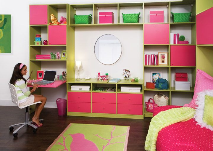 Kids bedroom wall unit transform the art of custom for Wall shelves kids room