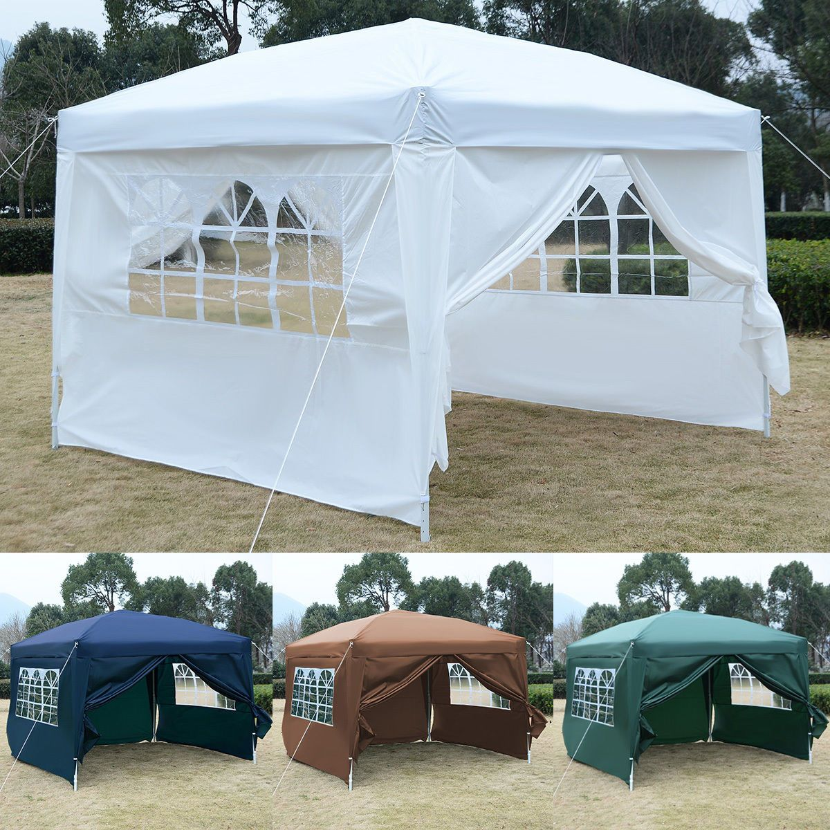 AbcCanopy Commercial Ez Pop Up Tent Canopy Gazebo Market Trade Show Booth