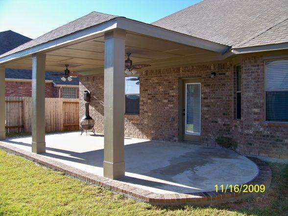 patio cover concrete slab and patio