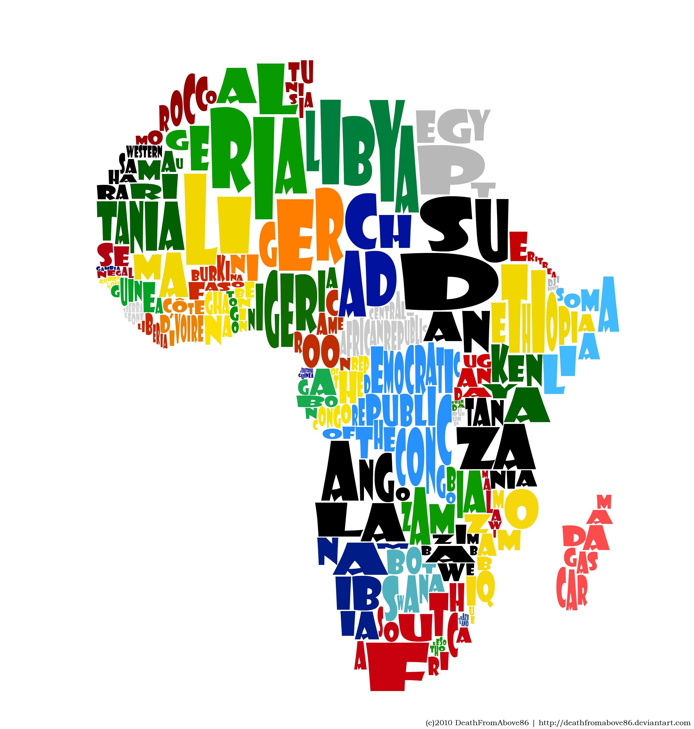 AFRICA maybe one of the coolest things ive seen Graphic Design