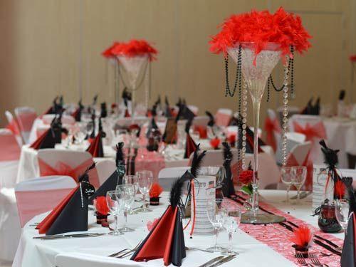 noir et blanc avec touche de rouge | black & white weddings