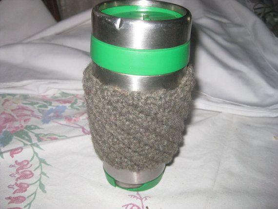 Coffee Cup Cozy Crochet Accesories Sleeve Ribbed by AlpacaShack