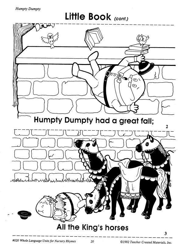 HUMPTY DUMPTY PRINTABLES | learningenglish-esl | Literacy ...