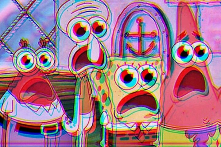 3d Spongebob Omiah Magic Pinterest Trippy Psychedelic And