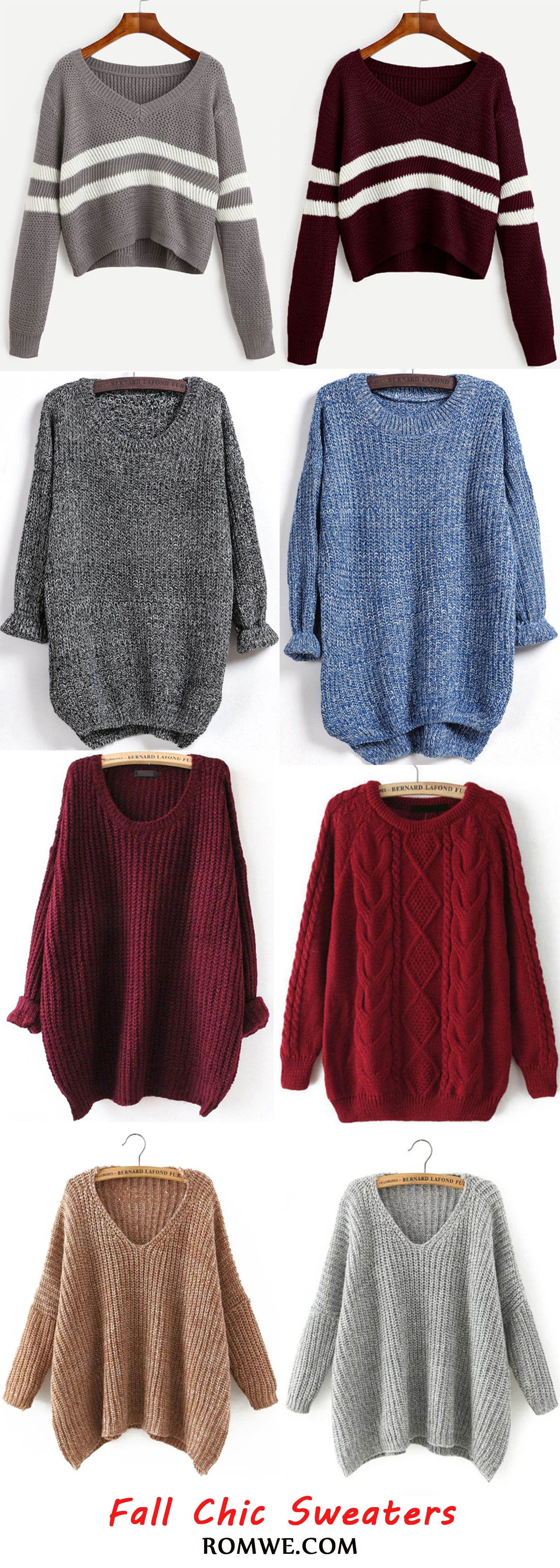 Fall is coming and you need a sweater to make you warm. Romwe can ...