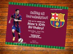 Barcelona Fcb Futbol Soccer Personalized Invitation