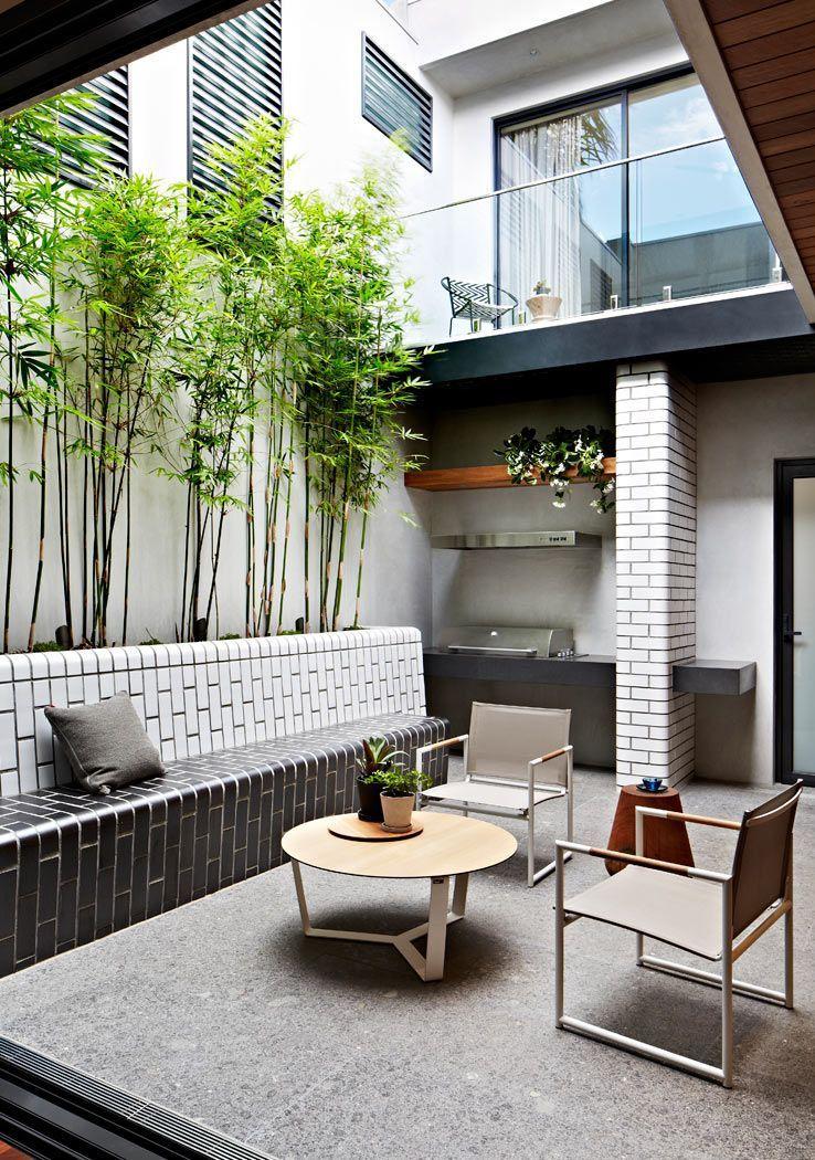 Exteriores un patio interno peque o de dise o moderno arreglos de jardin patios peque os - Decoracion patios interiores pequenos ...
