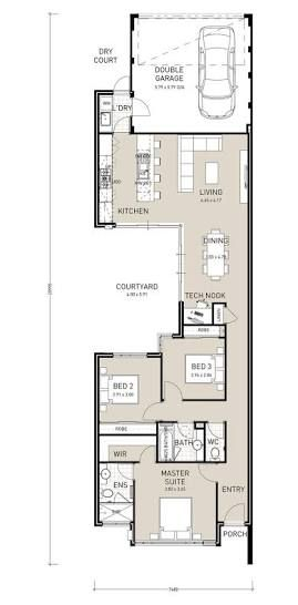 design units for narrow east west facing block - Google Search ...