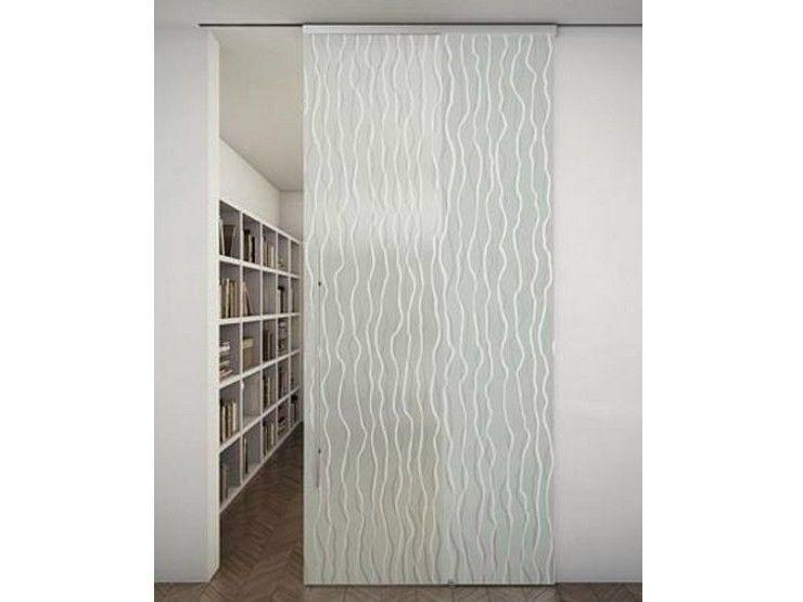 porte scorrevoli in vetro - porta in vetro con binario per ... - Design Della Porta In Legno Moderno Con Vetro