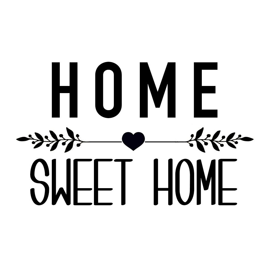 "Fabelhaft Wandtattoo Home Sweet Home Das Beste Von Sticker ""home Home"" - Affaires De Famille"