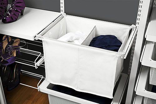Elfa Divided Laundry Hamper Drawer Frame Laundry Hamper