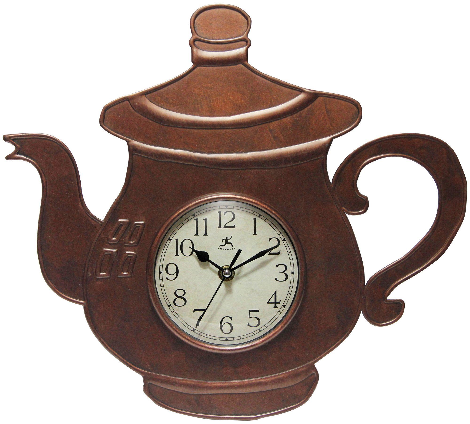 Bronze Teapot Wall Clock Products Pinterest Wall Clocks
