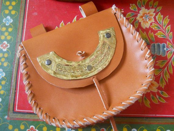 leather belt bag pouch  big by Syama on Etsy, $52.00
