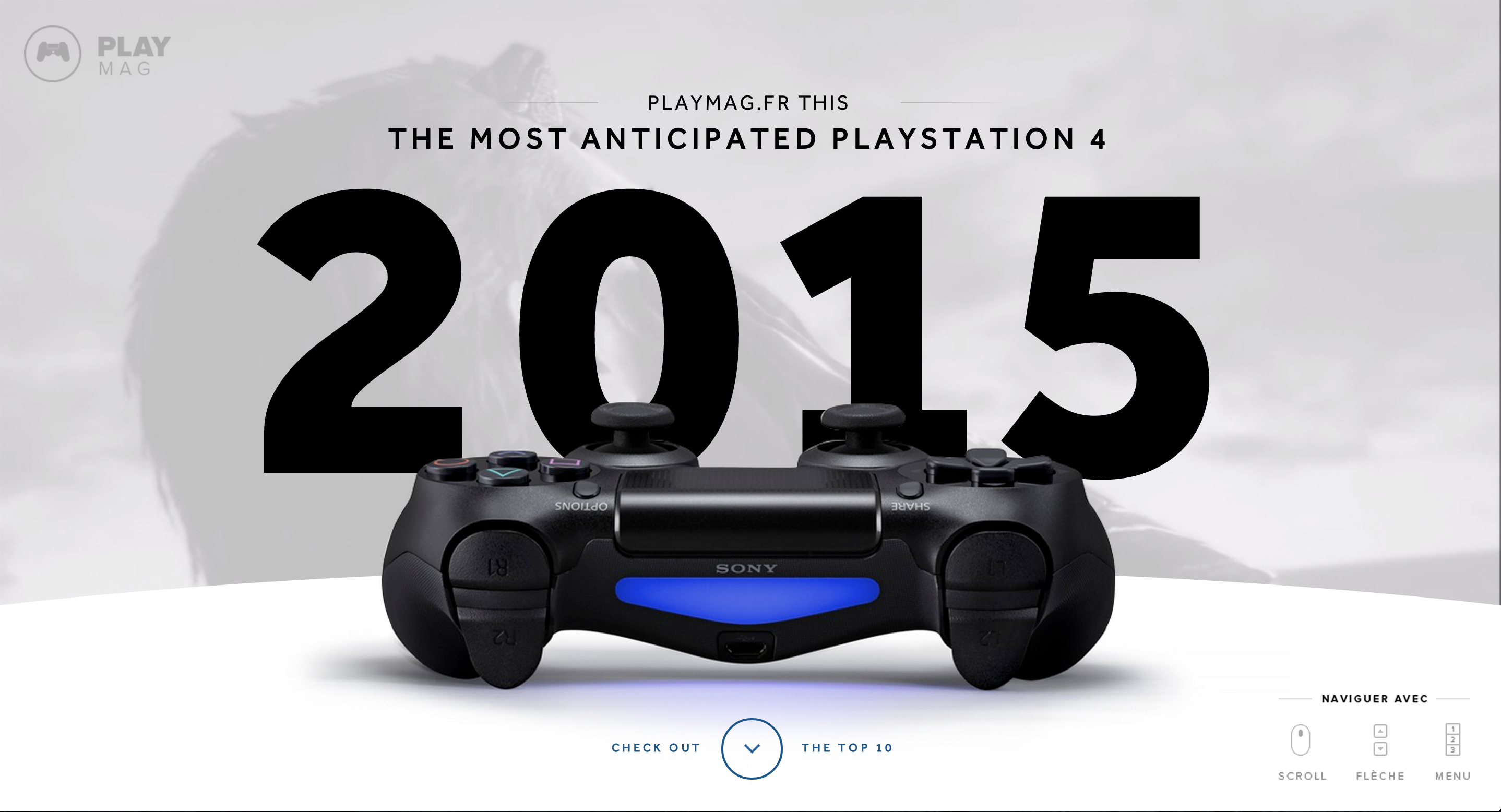 Most wanted Playstation 4 games of 2015.  http://www.playmag.fr/mostwanted2015