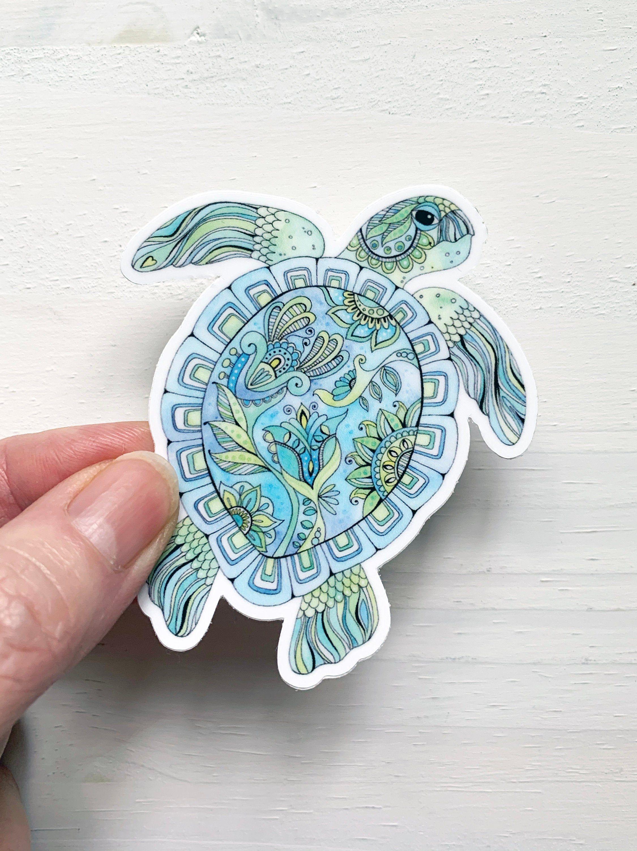 Sea Turtle Decal Sea Turtle Vinyl Sticker Laptop Decal Etsy Vinyl Stickers Laptop Sea Turtle Decal Turtle [ 3000 x 2250 Pixel ]