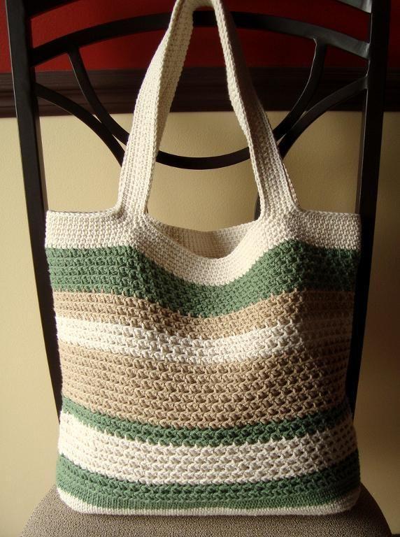 Textured Mesh Tote Bag Crochet Crochet Tote Crochet Beach Bags