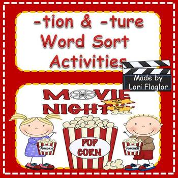 tion and -ture Word Work Activities