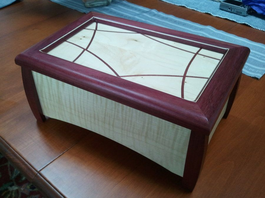 Purple heart Jewelry Box Wood working projects Pinterest Woods