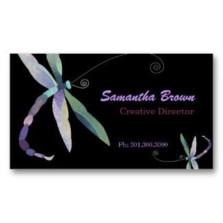 Stylish dragonfly designer business cards high quality business stylish dragonfly designer business cards reheart Gallery