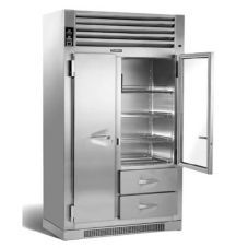 Traulsen Dual Nice Fridge Kitchen Glass Doors Glass Door Refrigerator Stainless Steel Kitchen Shelves