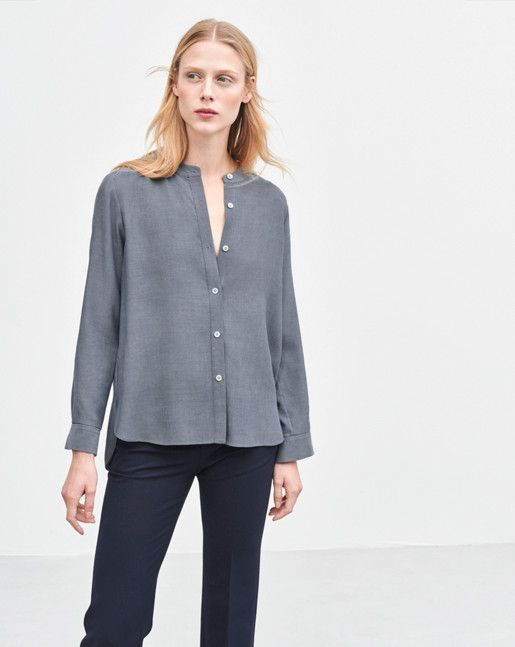 filippa k washed tencel blouse