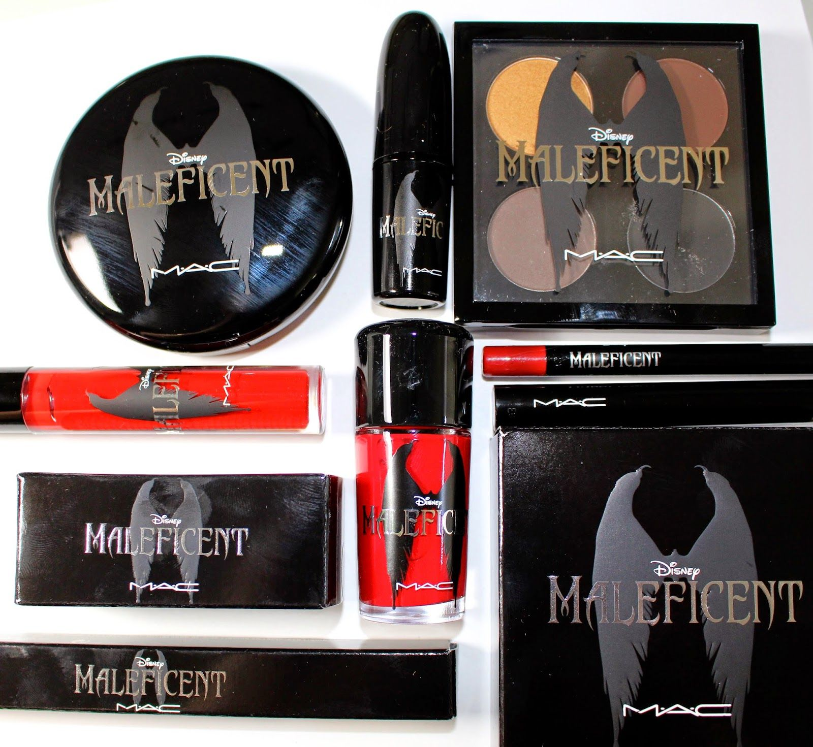 Disney MALEFICENT MAC Collection Swatches & Review! (with