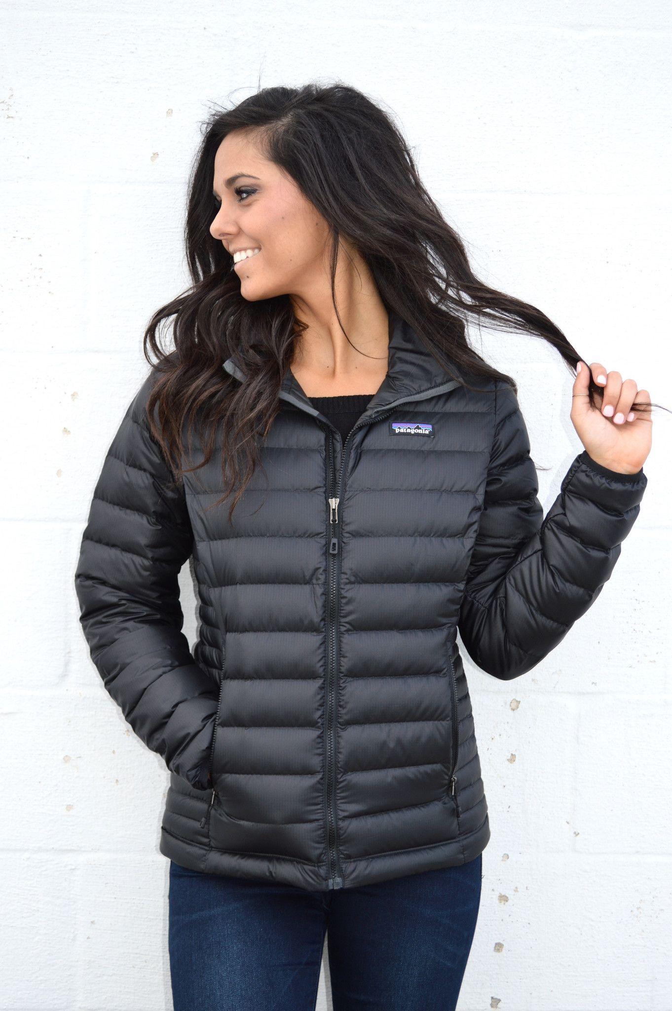 Patagonia Women's Down Sweater Jacket- Black | Patagonia, Roots ...
