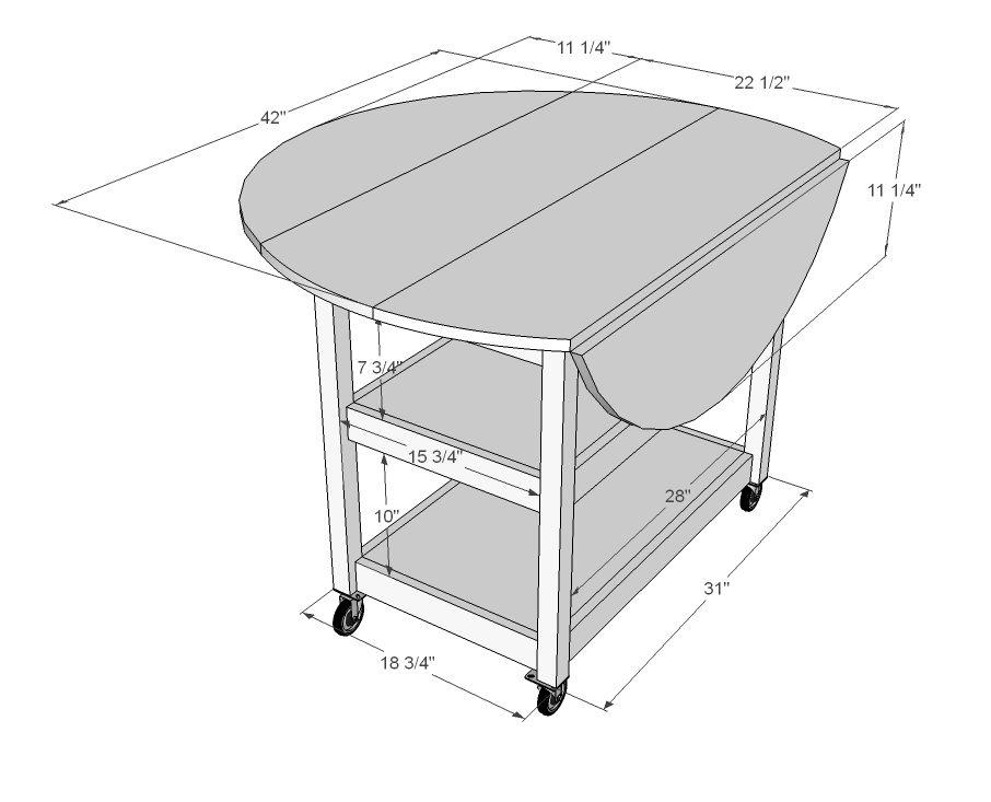 Drop Leaf Round Storage Table | Diy kitchen storage, Small ...