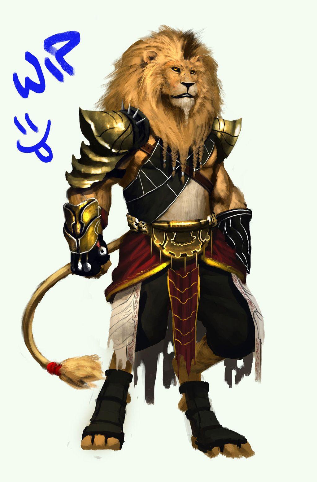 Lion warrior 1 ver 2 by orochi-spawn.deviantart.com on ...