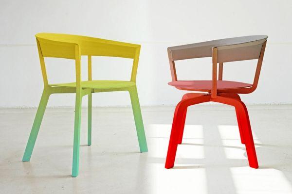 Ausgefallene Wohnideen Stühle Im Ombre Stil